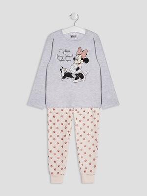 Ensemble pyjama Minnie gris fille