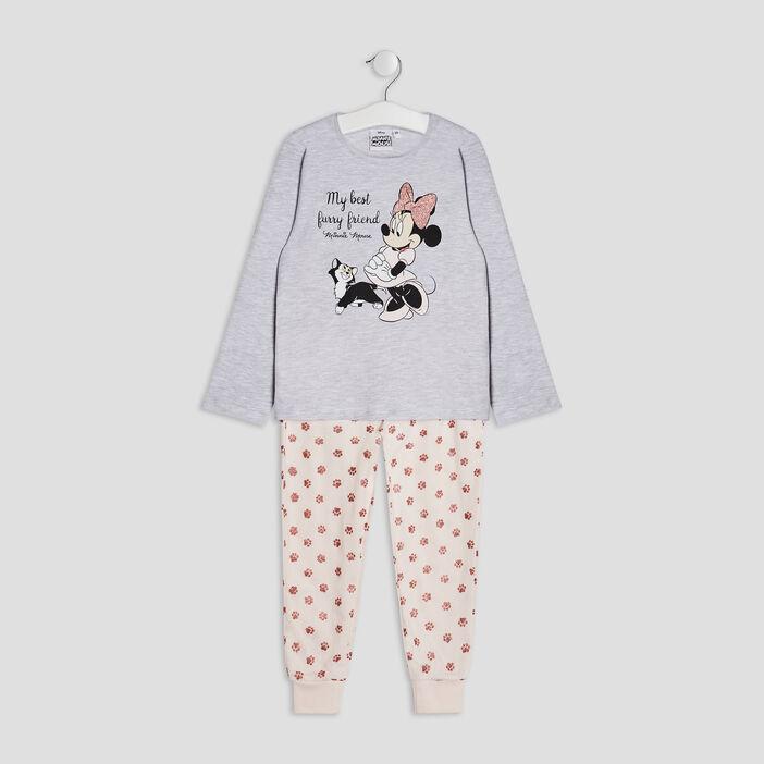 Ensemble pyjama Minnie fille gris
