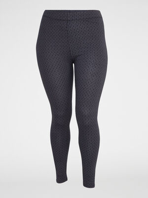 Legging imprime grande taille gris fonce femme