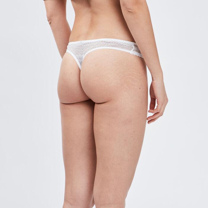 String en dentelle femme blanc