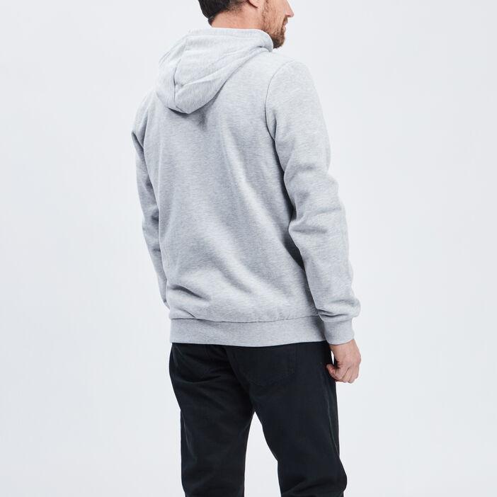 Gilet zippé à capuche homme gris