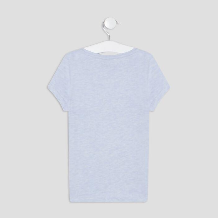 T-shirt La Reine des neiges 2 fille bleu