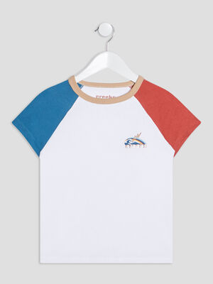 T shirt manches courtes Creeks beige garcon