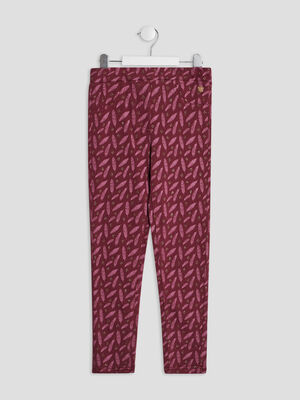 Pantalon jogging rose framboise fille