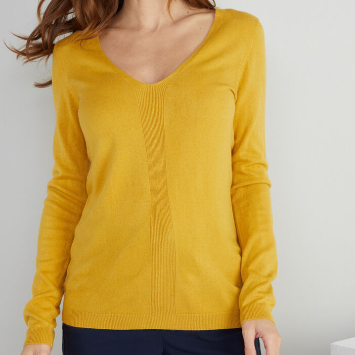 Pull manches longues femme vert anis