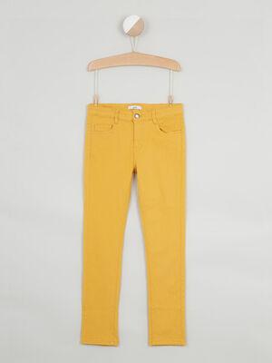 jean droit 5 poches jaune moutarde garcon