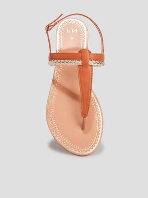 Sandales a entre doigts marron femme