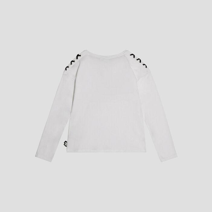 T-shirt Minnie fille blanc