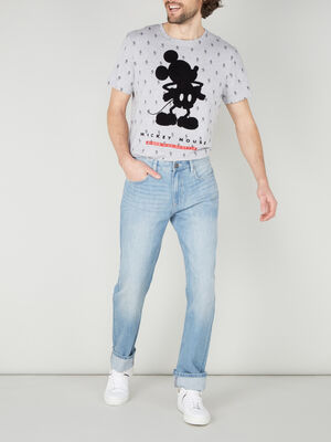 Jeans regular denim bleach homme