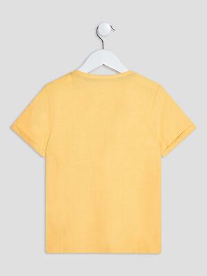 T shirt manches courtes jaune moutarde garcon