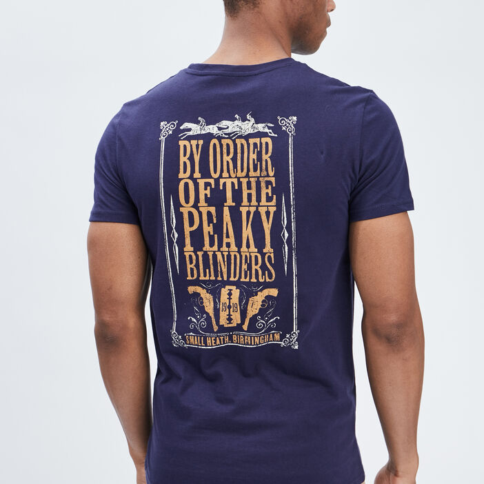 T-shirt Peaky Blinders homme bleu marine