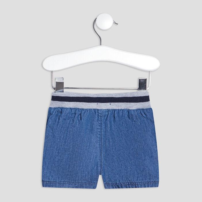 Short droit en jean bébé garçon denim double stone