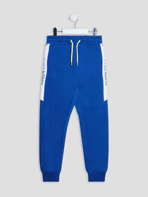 Jogging a taille elastiquee bleu garcon