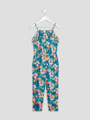 Combinaison pantalon a volants multicolore fille