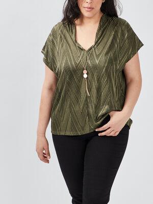 T shirt manches courtes vert kaki femmegt