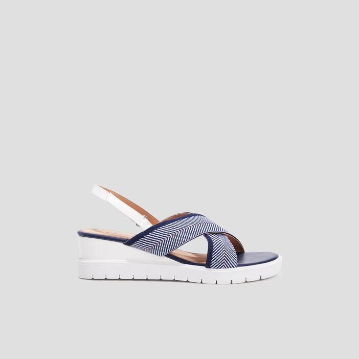 Sandales à larges brides femme bleu