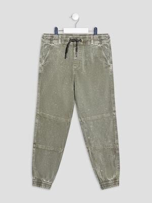 Pantalon jogging vert kaki garcon
