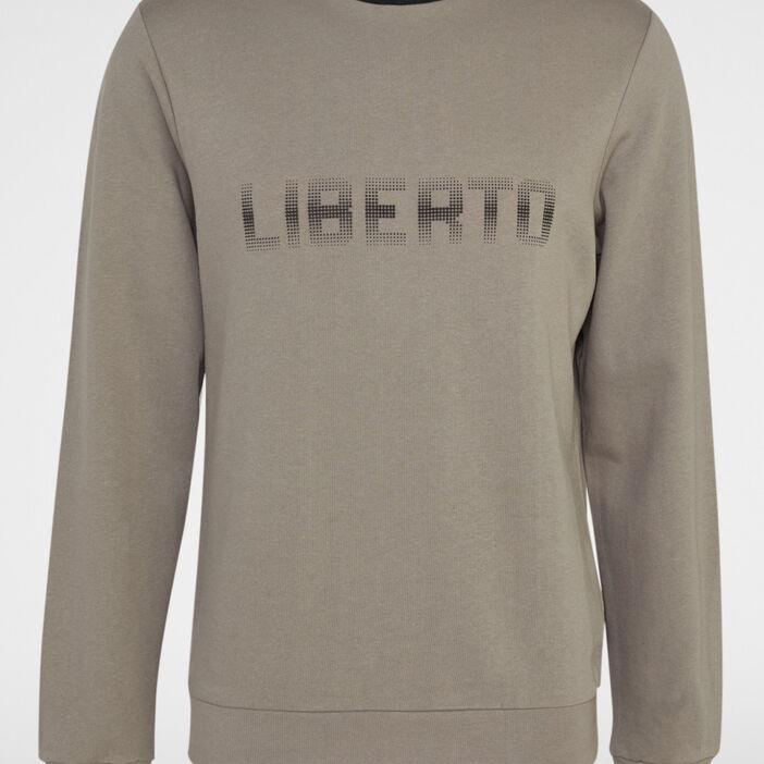 Sweatshirt avec imprimé homme taupe