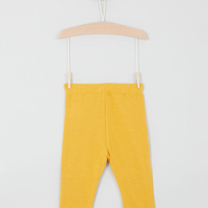 Pantalon taille extensible bébé garçon jaune