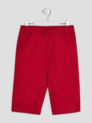 Bermuda droit rouge garcon