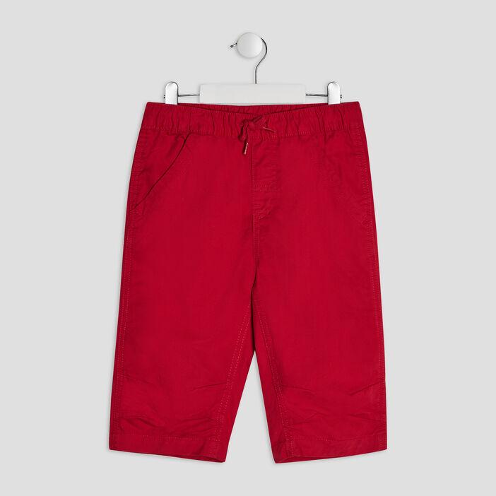 Bermuda droit garçon rouge