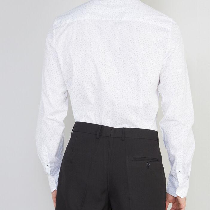 Chemise slim imprimée homme blanc