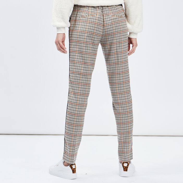 Pantalon droit taille standard femme multicolore