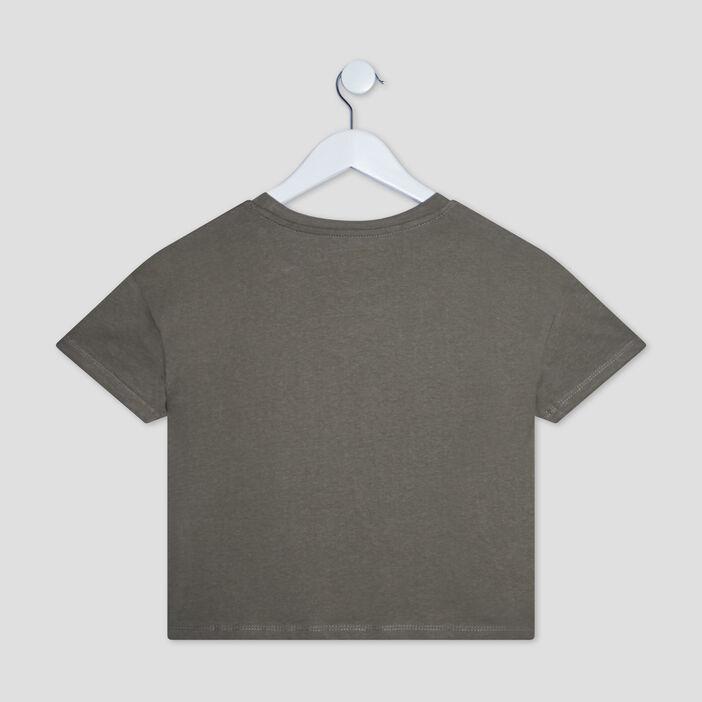 T-shirt manches courtes fille vert kaki