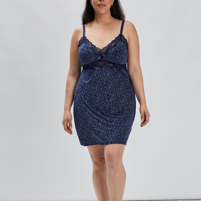 Nuisette grande taille femme grande taille bleu marine