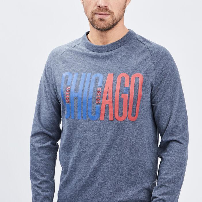 T-shirt manches longues Creeks homme bleu