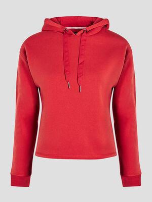 Sweatshirt rouge femme