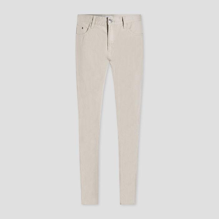 Pantalon droit homme ecru
