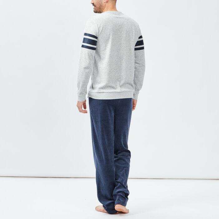 Ensemble pyjama 2 pièces homme gris