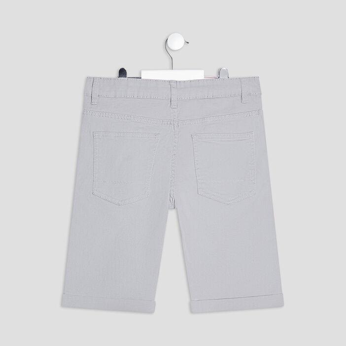 Bermuda droit garçon gris