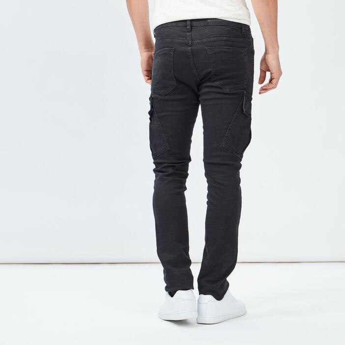 Jeans slim Liberto homme noir