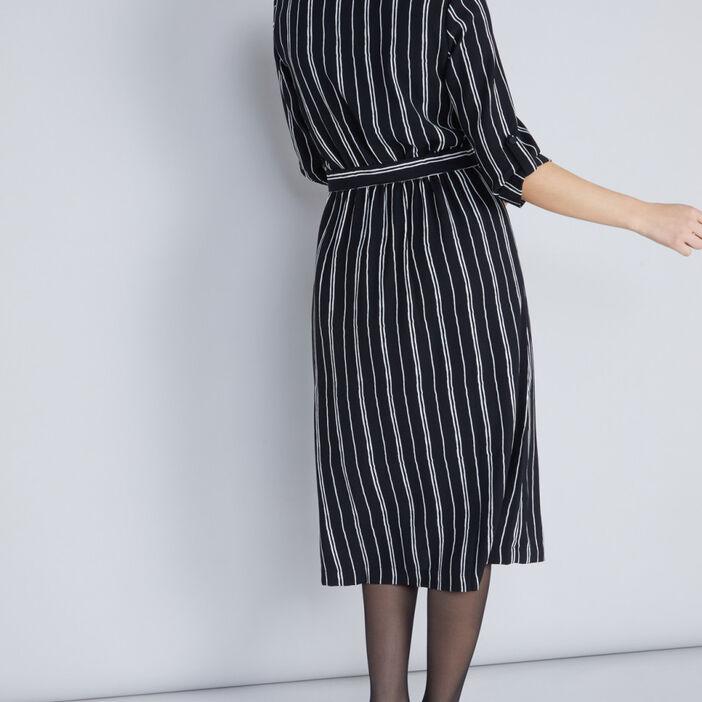 Robe chemisier rayures verticales femme multicolore