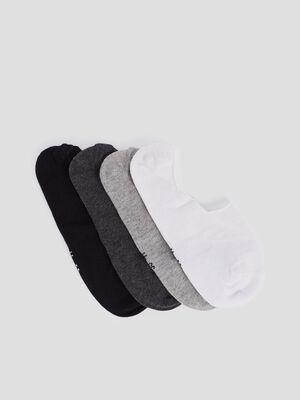 Socquettes protege bas multicolore femme