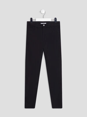 Pantalon slim noir fille