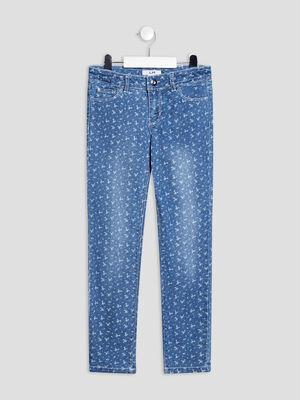 Jeans slim denim stone fille