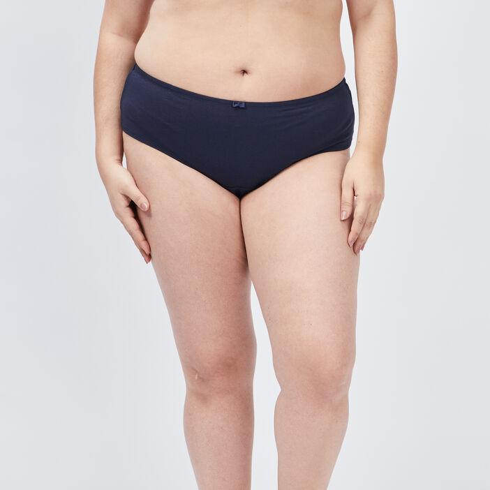 Culotte shorty femme grande taille bleu marine