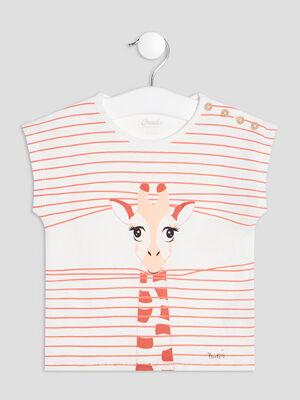 T shirt manches courtes ecru bebef