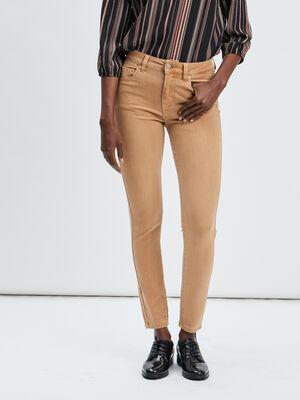 Pantalon skinny Toxik3 camel femme