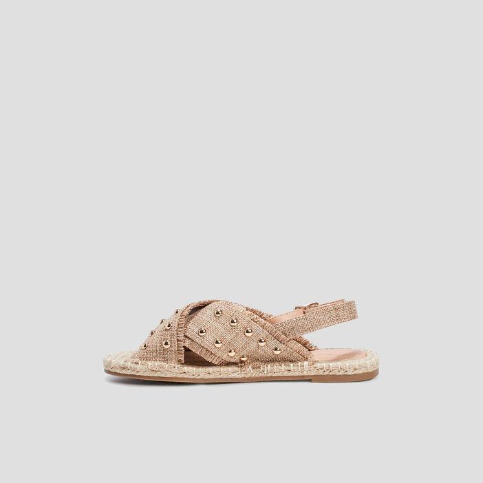 Sandales détails cloutés femme beige