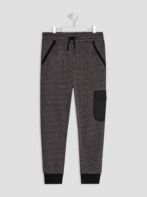 Pantalon jogging Liberto gris fonce garcon
