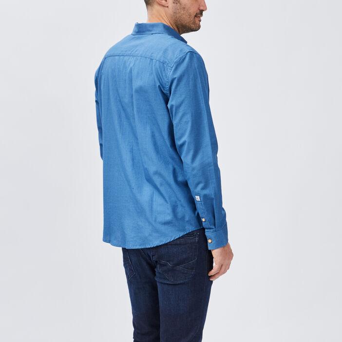 Chemise manches longues Creeks homme bleu