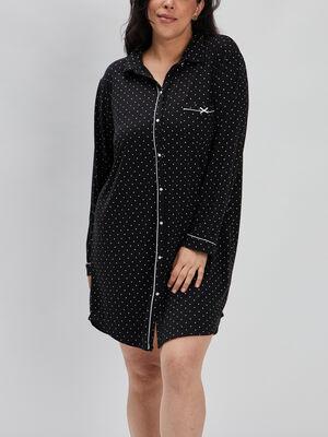Chemise de nuit noir femmegt
