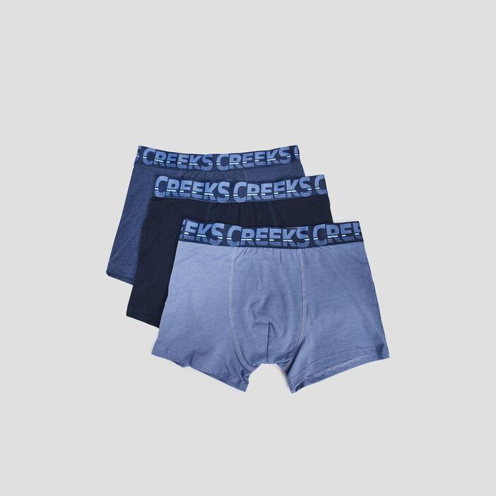 Lot 3 boxers Creeks homme bleu marine