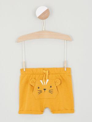 Short uni deco 3D jaune bebeg