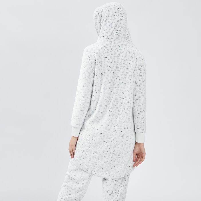 Sweat pyjama coordonnable femme ecru