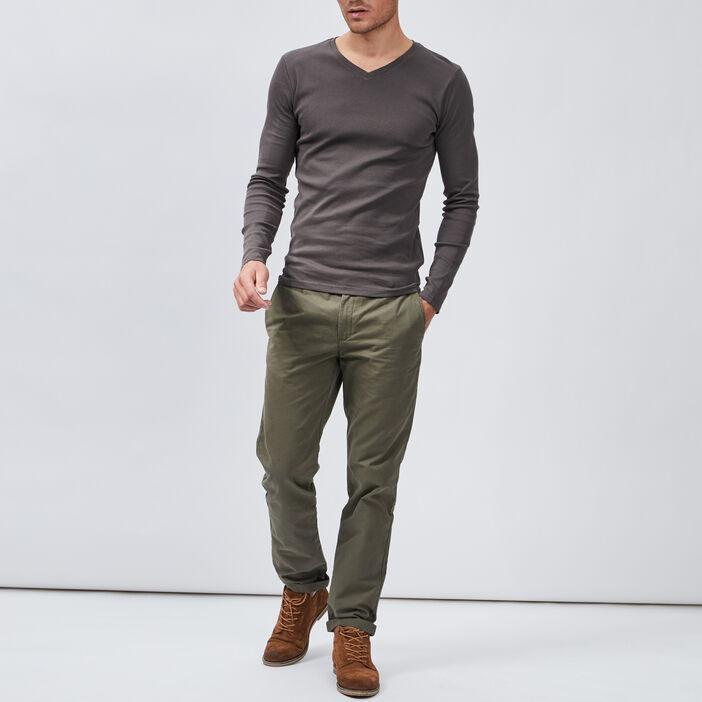 T-shirt manches longues homme gris foncé